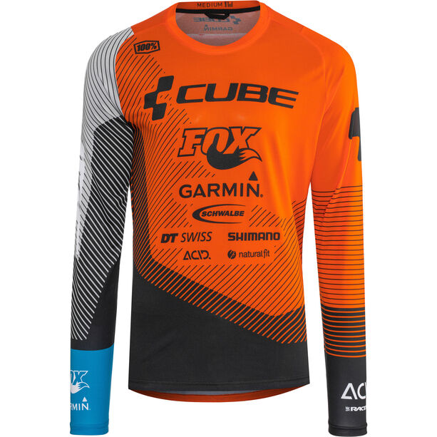 Cube Edge Rundhalstrikot Langarm Herren action team