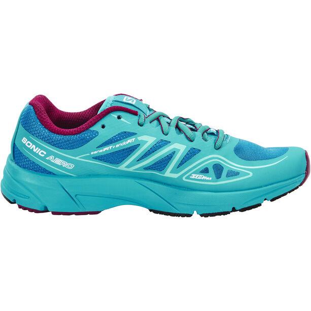 Salomon Sonic Aero Trailrunning Shoes Damen fog blue/teal blue f/mystic purple