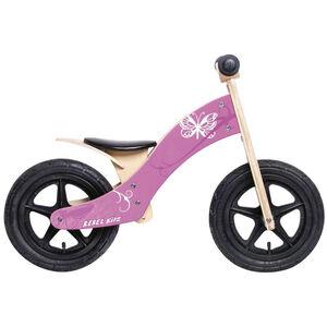 "Rebel Kidz Wood Air Lernlaufrad 12"" Schmetterling pink pink"