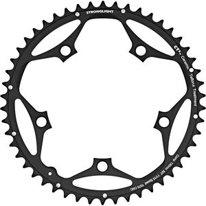 STRONGLIGHT Type 130 S Chainring 5 hole outside 10/11x schwarz schwarz