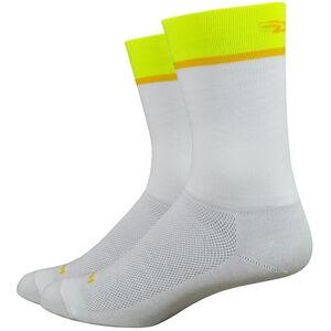"DeFeet Aireator 6"" Socks team defeet/white/hi-vis yellow team defeet/white/hi-vis yellow"