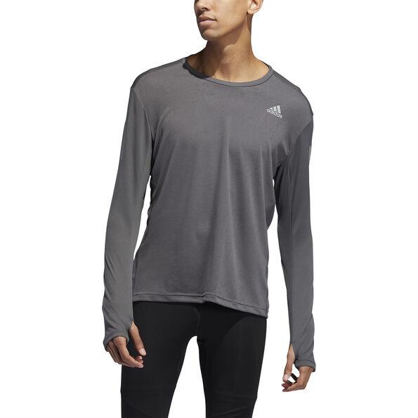 adidas Own The Run Langarm T-Shirt Herren grey six