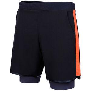 Zone3 Compression 2-in-1 Shorts Herren black orange black orange