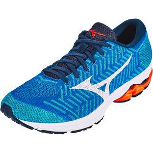 Mizuno Waveknit R2 Shoes Herren nautical blue/white/red orange nautical blue/white/red orange