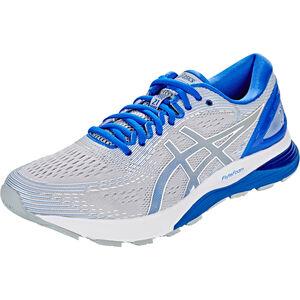 asics Gel-Nimbus 21 Lite-Show Shoes Herren mid grey/illusion blue mid grey/illusion blue
