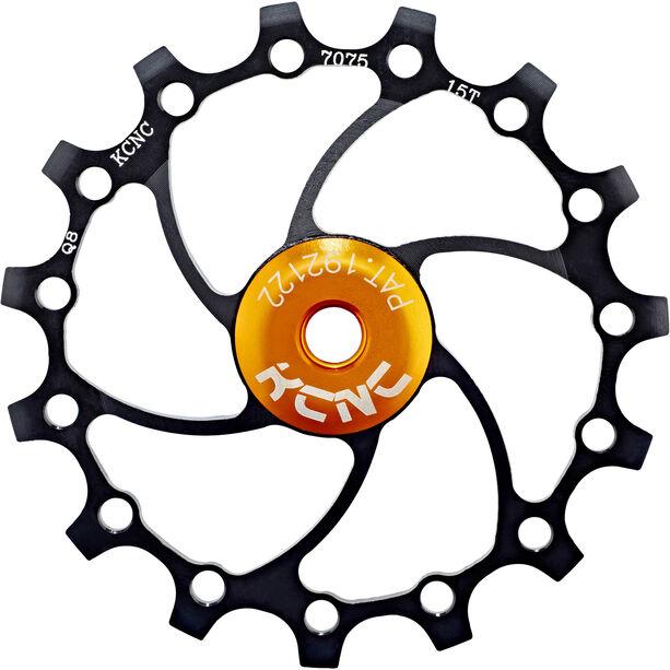 KCNC Jockey Wheel Original SS Bearing Long Teeth 15 Zähne black