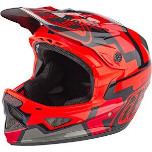 Troy Lee Designs D3 Fiberlite Speedcode Helmet red red