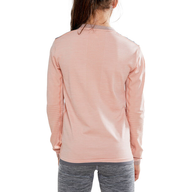 Craft Fuseknit Comfort Langarmshirt Kinder touch/dark grey melange