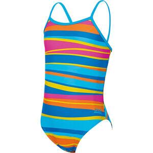 Zoggs Folk Tale Yaroomba Floral Swimsuit Girls Stripes