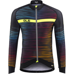 Alé Cycling Graphics PRR The End LS Jersey Herren black-multicolor-yellow-fluo black-multicolor-yellow-fluo