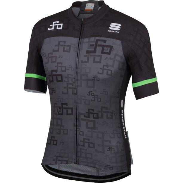 Sportful Sagan Logo Bodyfit Team Jersey Herren grey-green