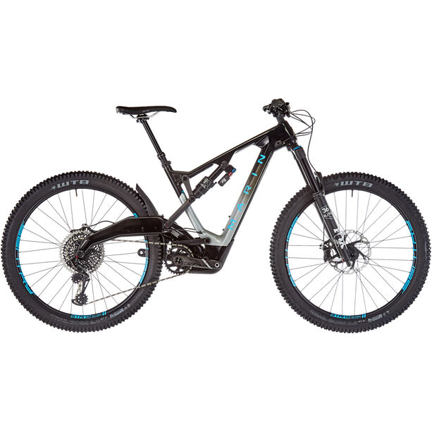 Marin Mount Vision 9 S gloss carbon/charcoal fade/cyan decals