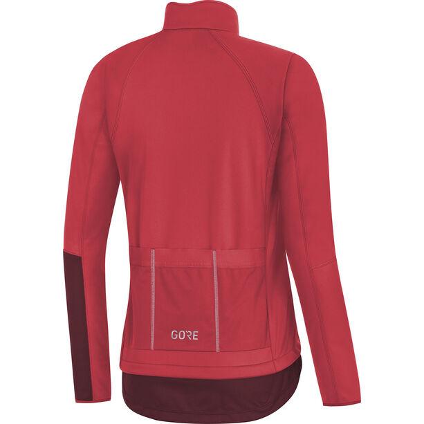 GORE WEAR C5 Windstopper Thermo Jacket Damen hibiscus pink/chestnut red