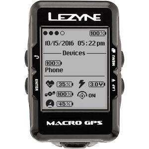 Lezyne Macro GPS Fahrradcomputer schwarz schwarz