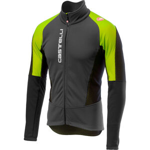 Castelli Mortirolo V Jacket Men dark gray/yellow fluo