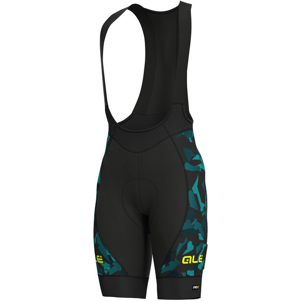 Alé Cycling Graphics PRR Glass Bib Shorts Herren black petr-turquise