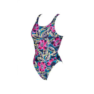 arena Tropical Sketch Swim Tech One Piece Badeanzug Damen green/multi green/multi