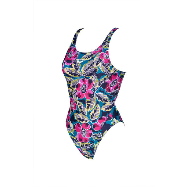 arena Tropical Sketch Swim Tech One Piece Badeanzug Damen green/multi