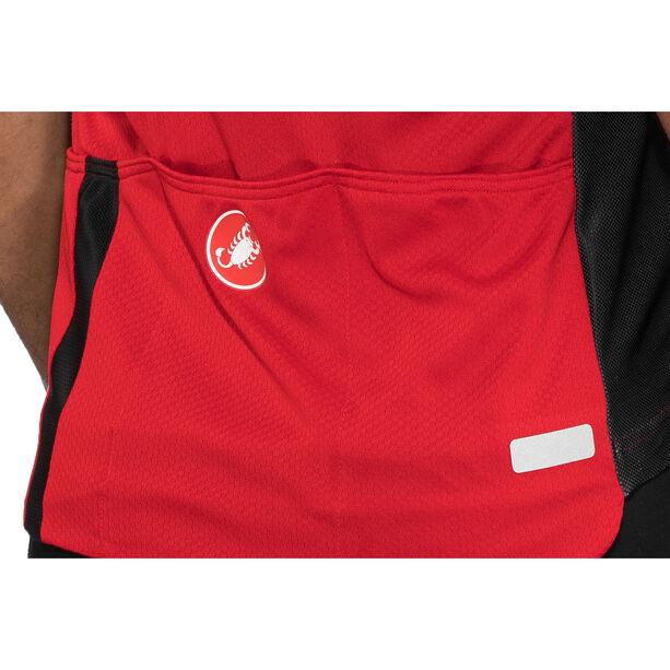 Castelli Entrata 3 FZ Sleeveless Jersey Herren red