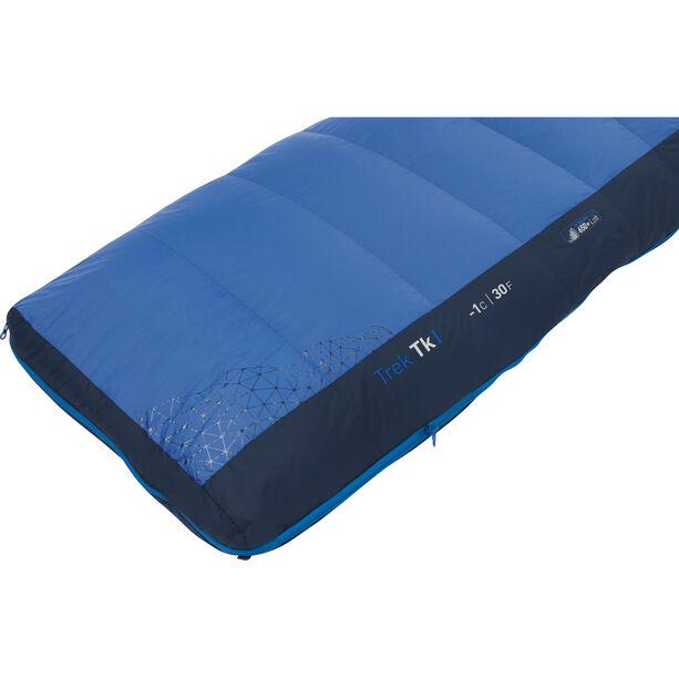 Sea to Summit Trek TkI Sleeping Bag Regular Wide bright blue/denim