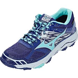 Mizuno Wave Mujin 4 G-TX Shoes Damen patriot blue/turquoise/pearl blue patriot blue/turquoise/pearl blue