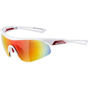 Alpina Nylos Shield Glasses white-red