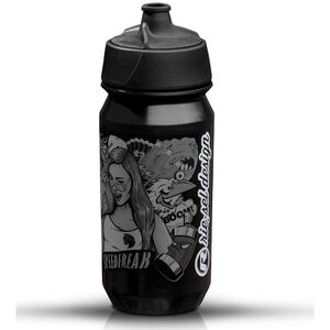 rie:sel design bot:tle 500ml stickerbomb ultra black   black stickerbomb ultra black   black