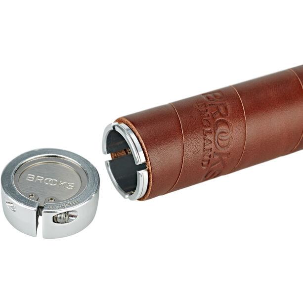 Brooks Slender Leather Lenkergriffe brown