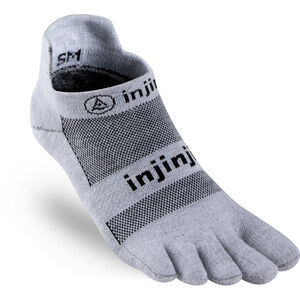 Injinji Run Xtralife Lightweight No Show Socks Men gray bei fahrrad.de Online