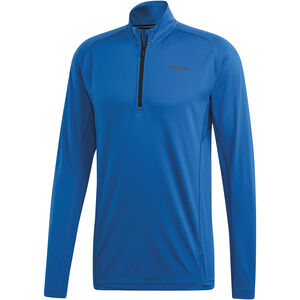 adidas TERREX Trace Rocker 1/2 Zip LS Shirt Men Blue Beauty