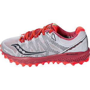 saucony Peregrine 7 Running Shoes Women Silver/Berry