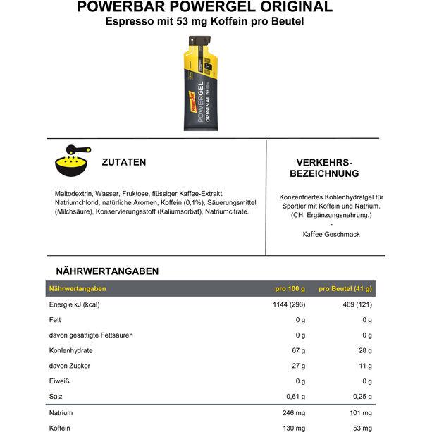 PowerBar PowerGel Original Box 24x41g Espresso
