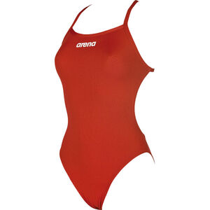 arena Solid Light Tech High One Piece Swimsuit Damen red-white red-white