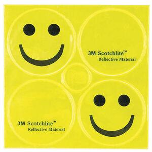 M-Wave Smile Reflexaufkleber 3M gelb gelb