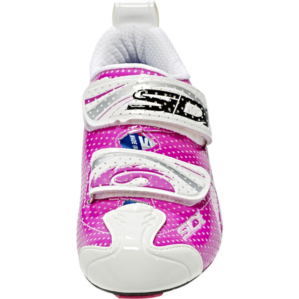 Sidi T-4 Air Carbon Shoes Women Fuxia/White