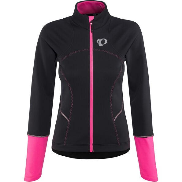 PEARL iZUMi Elite Escape Softshell Jacket Damen black/screaming pink