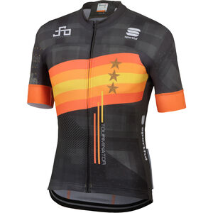 Sportful Sagan Stars Bodyfit Team Jersey Herren black/orange black/orange