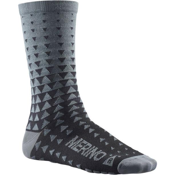 Mavic Ksyrium Merino Graphic Socks asphalt/black