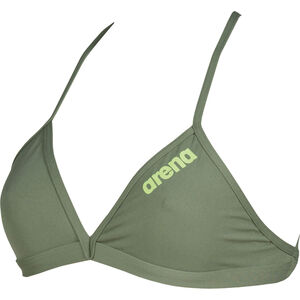 arena Solid Tie Back Top Damen army-shiny green army-shiny green