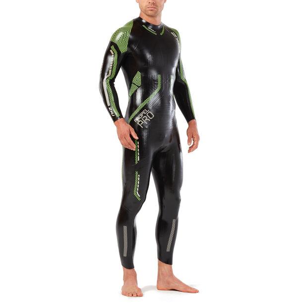 2XU Propel Pro Wetsuit Herren black/neon green gecko