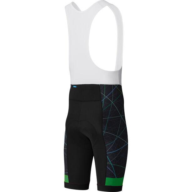 Shimano Team Bib Shorts Herren green