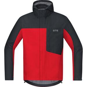 GORE WEAR C3 Gore-Tex Paclite Hooded Jacket Herren red/black red/black