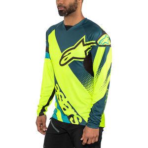 Alpinestars Racer Longsleeve Jersey Men petrol/yellow fluo bei fahrrad.de Online
