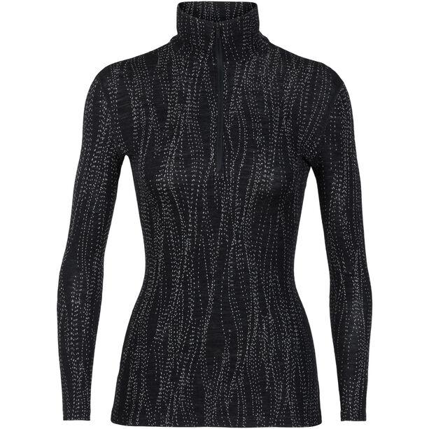 Icebreaker 250 Vertex LS Half-Zip Shirt Damen black/snow