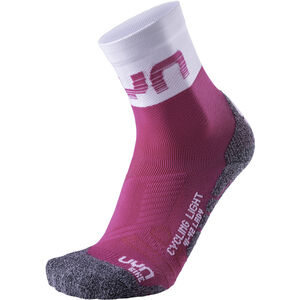UYN Cycling Light Socks Damen pink/white pink/white