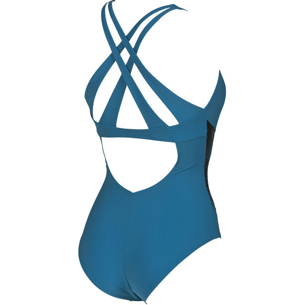 arena Maia Criss Cross Back One Piece Swimsuit Damen curacao-curacao