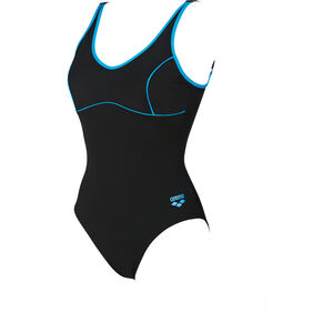 arena Tania Clip Back One Piece Swimsuit Women black-turquoise