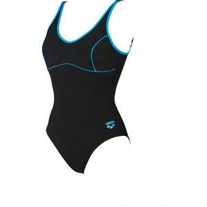 arena Tania Clip Back One Piece Swimsuit Women black-turquoise bei fahrrad.de Online