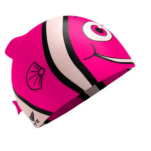TYR Charactyrs Happy Fish Swimming Cap Kinder fluo pink fluo pink