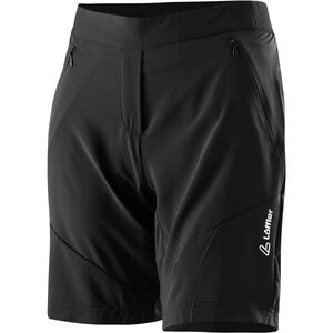 Löffler Superlitina Comfort Stretch Superlite Bike Shorts Damen schwarz schwarz